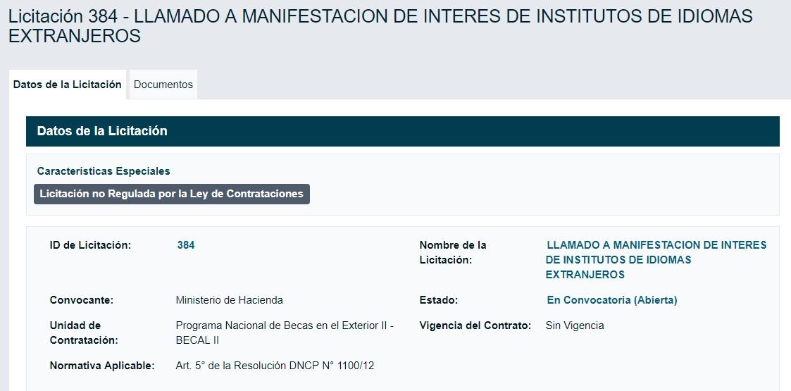 CONCURSO PARA INSTITUTOS DE IDIOMAS EXTRANJEROS