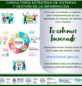 Llamado a Concurso: Consultoría Estratega de Sistemas y Gestión de la Información