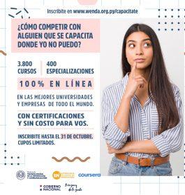 Paraguayos disponen de 25.000 cupos para cursos en línea con certificaciones sin costo