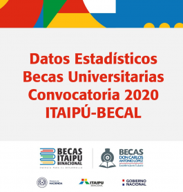 Datos estadísticos de la Convocatoria 2020 ITAIPÚ-BECAL.
