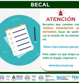 BECAL publica la lista de tareas de retorno pendientes actualizada a la fecha.