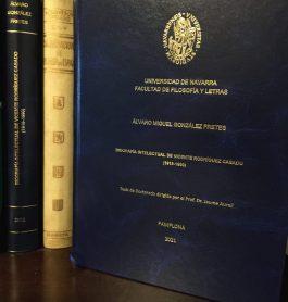 Alvaro González presentó su tesis acerca del desarrollo económico, social y político en España.